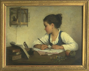 Henriette Browne, A girl writing 1860-1880 Victoria and Albert